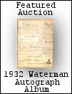 Waterman Autograph Album